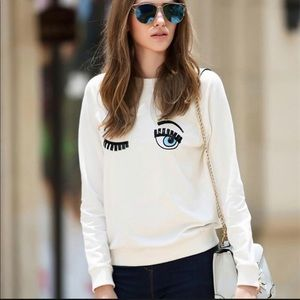 CHIARA FERRAGNI Flirting sweatshirt White Sz.S